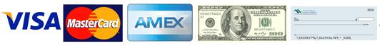 Credit Cards, Cash, Checks
